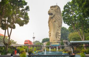 Merlion at Sentosa island