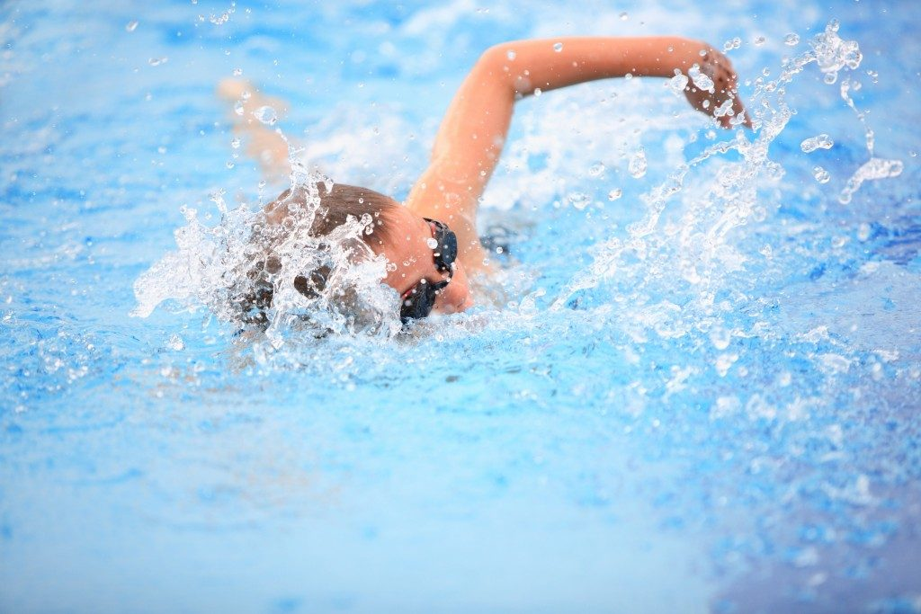 Woman doing freestyle swim