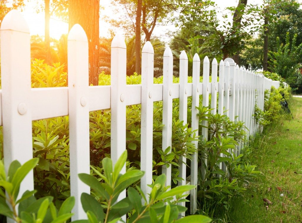 County style wooden fence
