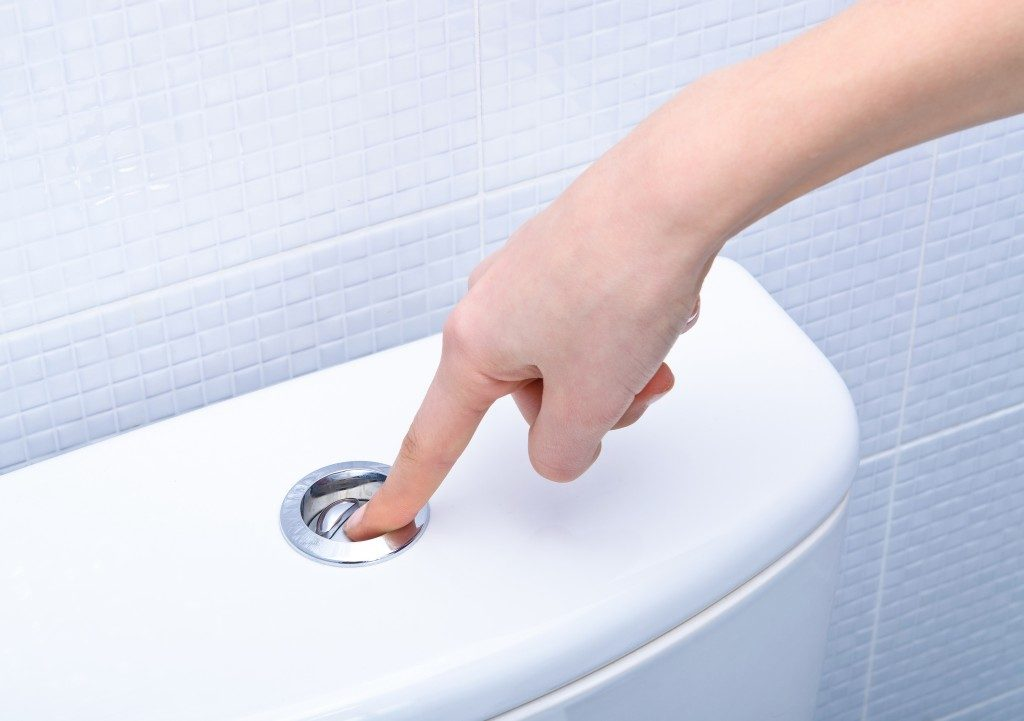 Finger flushing toilet
