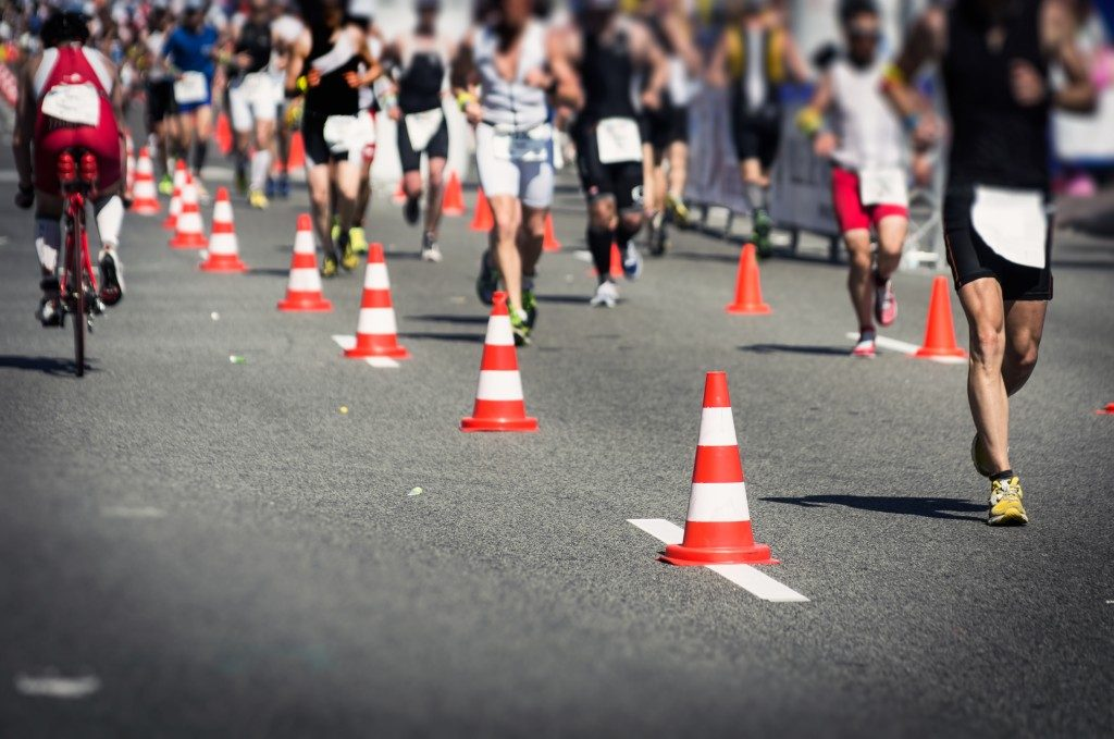 A photo of a marathon