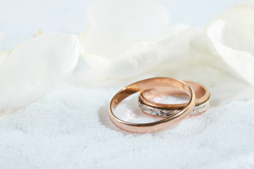 copper wedding rings