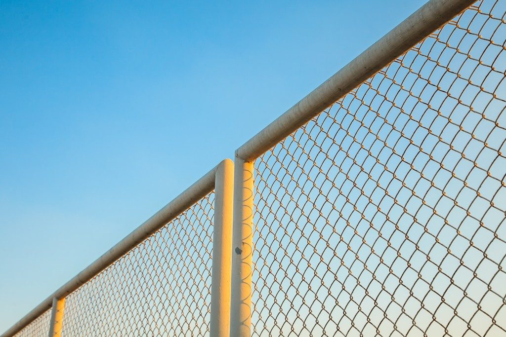 iron chain link fence