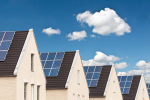 houses with solar panel
